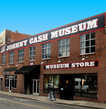 The Outside of The Johnny Cash Museum.