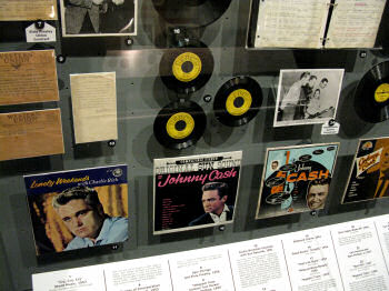 Johnny Cash memorabilia at the Rock & Roll Hall of Fame Musem