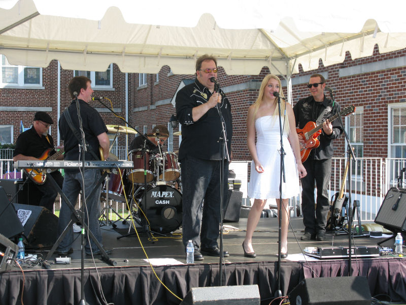 Performing at Benson's Car Show