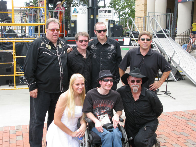 The Band With a Fan After the Show